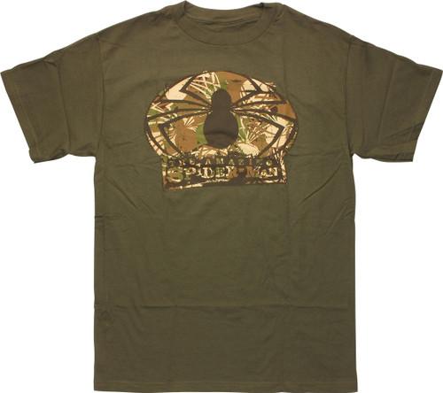 Amazing Spiderman Camouflage Logo T-Shirt