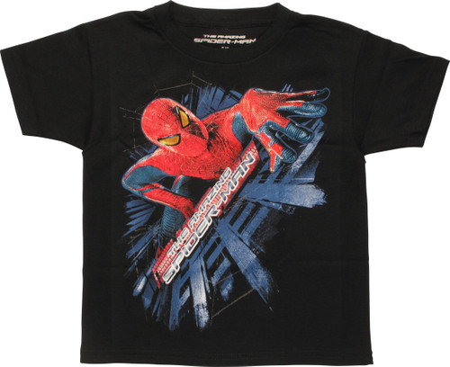 Amazing Spiderman Climbing Wall Juvenile T-Shirt