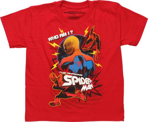 Amazing Spiderman Who Am I Juvenile T-Shirt