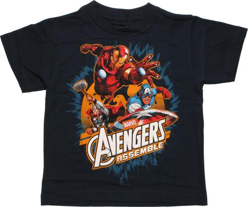 Avengers Assemble Trio Bird Juvenile T Shirt