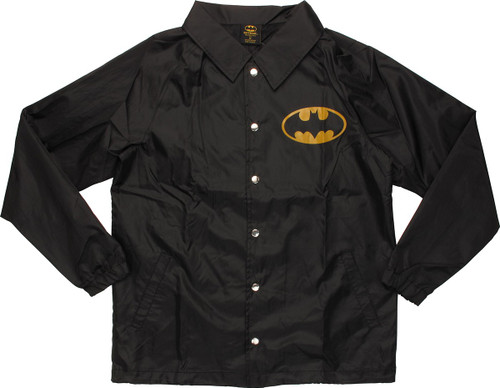 Batman Logo Coach Snap Jacket