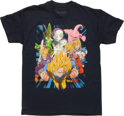 Dragon Ball Z Characters Action Pose Youth T-Shirt