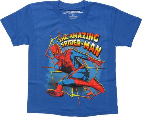 Spiderman The Amazing Yellow Web Juvenile T-Shirt