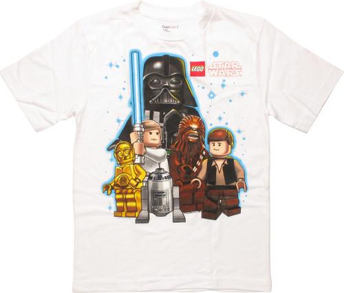 Star Wars Lego Cast Stars Youth T-Shirt