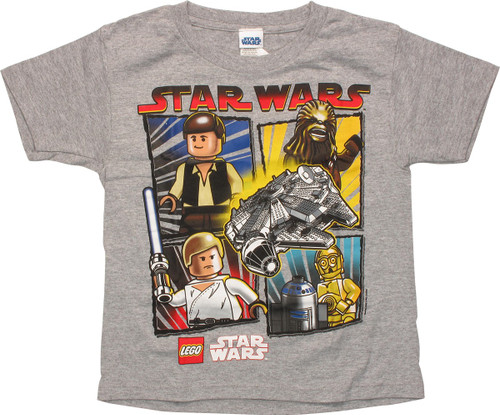 Star Wars Lego Falcon and Heroes Youth T-Shirt