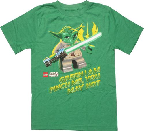 Star Wars Lego Yoda Pinch Me You May Youth T-Shirt