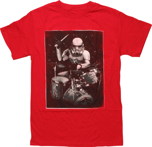 Star Wars Stormtrooper Drummer Red T-Shirt