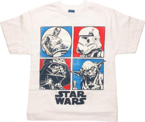 Star Wars UV Squares Youth T Shirt