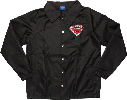 Superman Logo Coach Snap Jacket