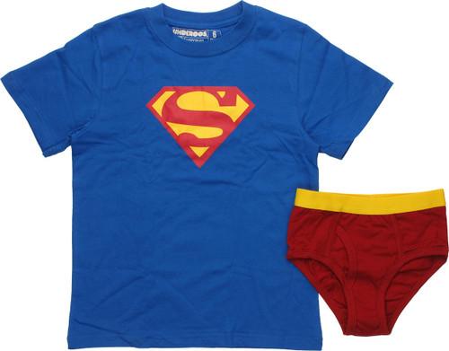 Superman Logo Primary Youth Pajama Set