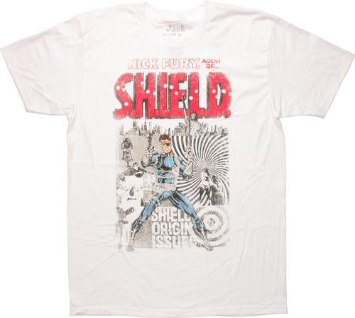 SHIELD Nick Fury Collage T-Shirt