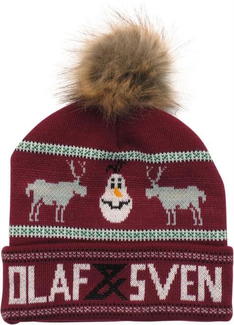 Frozen Olaf Sven Faux Fur Pom Beanie
