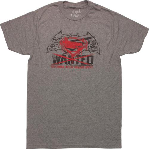 Batman v Superman Wanted Vigilante T-Shirt