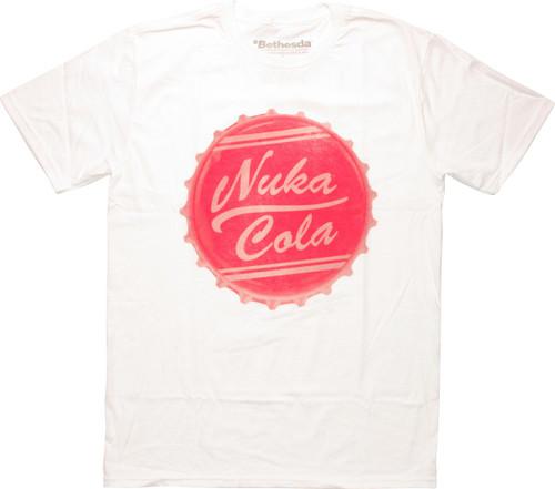 ed4001f5597 Fallout Nuka Cola Bottle Cap T-Shirt Sheer
