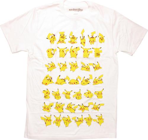 Pokemon Pikachu Poses Mighty Fine T-Shirt
