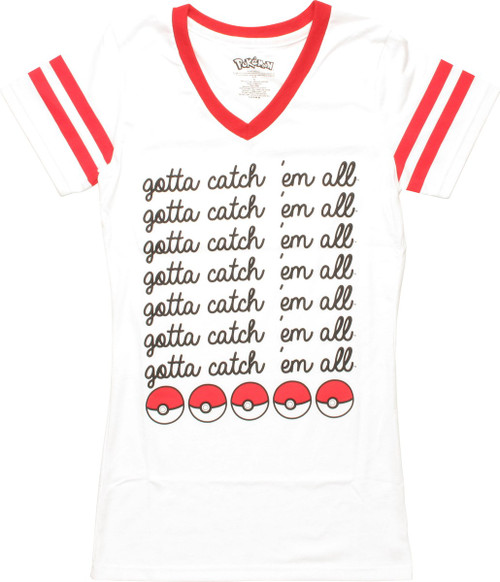 Pokemon Gotta Catch Em All V-Neck Juniors T-Shirt