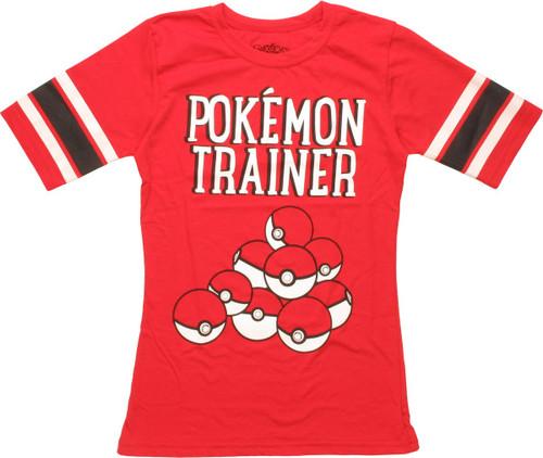 bed5d9c1 Pokemon Trainer Poke Balls Hockey Juniors T-Shirt