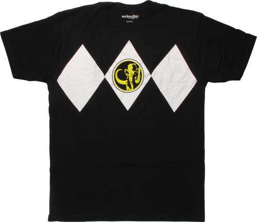 Power Rangers Black Costume Mighty Fine T-Shirt
