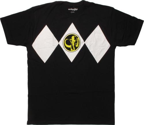 Power Rangers Black Costume Mighty Fine T-Shirt