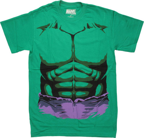 Incredible Hulk Muscles and Jeans Costume T-Shirt