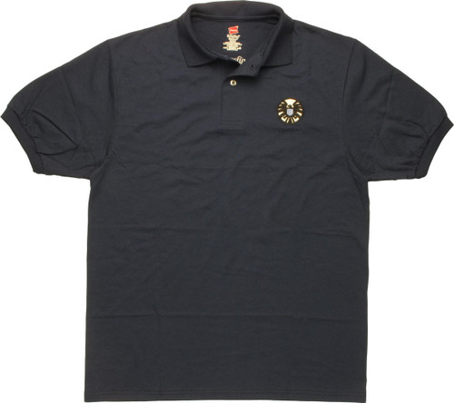 SHIELD Large Embroidered Logo Polo Shirt