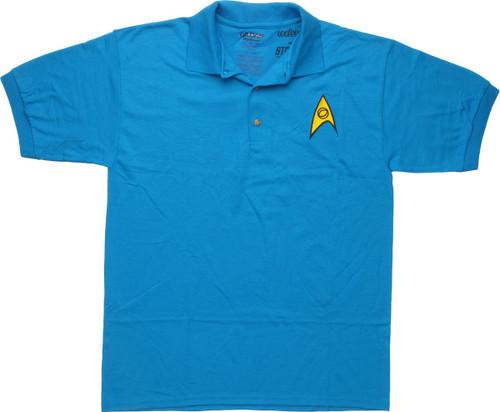 Star Trek TOS Science Badge Polo Shirt