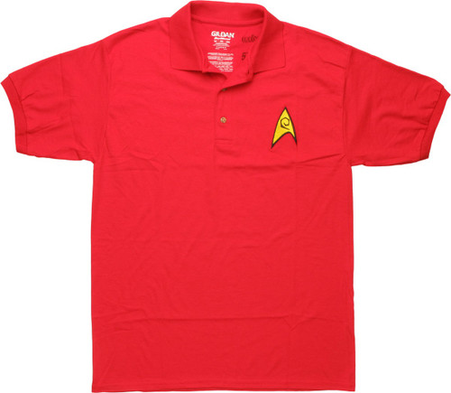 Star Trek TOS Engineering Badge Polo Shirt