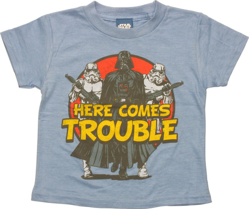 Star Wars Here Comes Trouble Blue Toddler T-Shirt