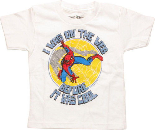 Spiderman Web Before It Was Cool Toddler T-Shirt