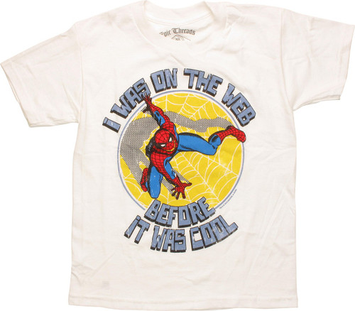 Spiderman Web Before it Was Cool Juvenile T-Shirt