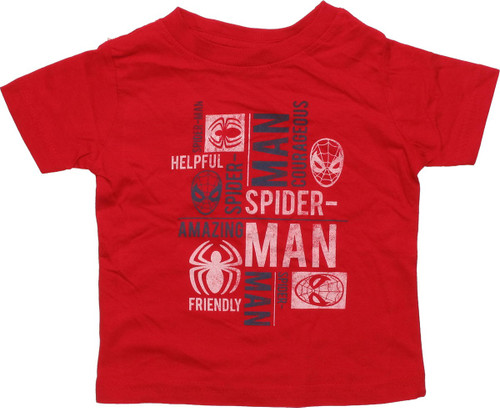 Spiderman Personality Texts Infant T-Shirt