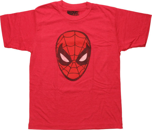 Spiderman Classic Mask Distressed Youth T-Shirt