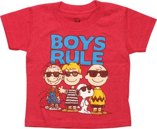 Peanuts Gang Boys Rule Toddler T-Shirt