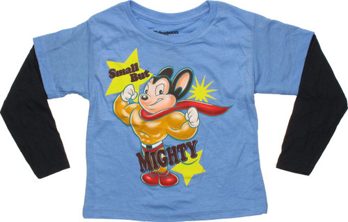 Mighty Mouse Small Mighty Blue LS Toddler T-Shirt
