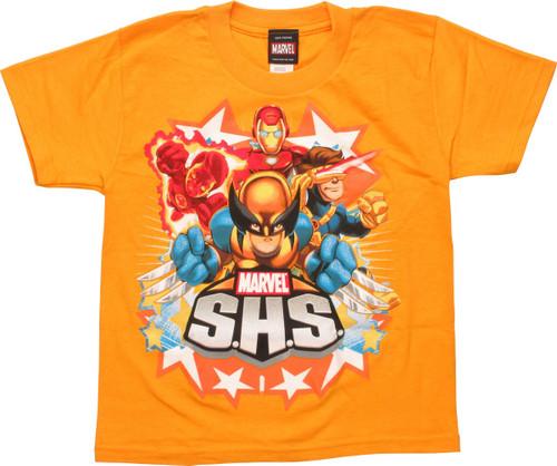 Marvel S.H.S. Heroes Juvenile T-Shirt