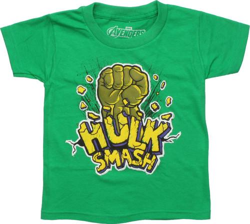 Incredible Hulk Fist Hulk Smash Toddler T-Shirt