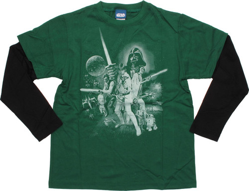 Star Wars New Hope Movie Poster LS Youth T-Shirt