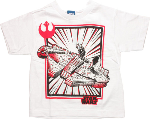 Star Wars Millennium Falcon White Juvenile T-Shirt