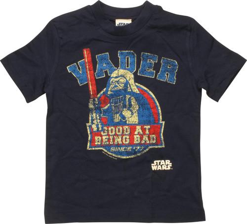 Star Wars Lego Vader Good at Bad Toddler T-Shirt