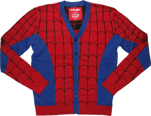 Spiderman Costume Mighty Fine Cardigan Sweater