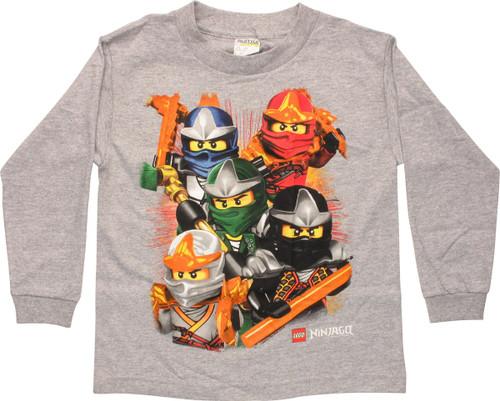 Lego Ninjago Five Warriors LS Juvenile T-Shirt