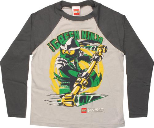 f01b329afdd5 Lego Ninjago Green Ninja Raglan Juvenile T-Shirt juvenile-t-lego-ninjago- green-raglan