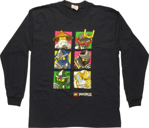 Lego Ninjago Squares Long Sleeve Youth T-Shirt