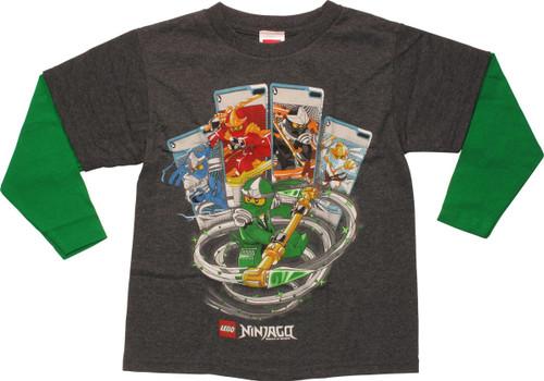 Lego Ninjago Attack Pose LS Juvenile T-Shirt