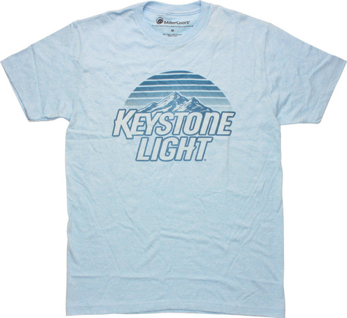 Keystone Light Mountains Logo T-Shirt Sheer