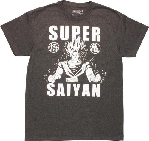 Dragon Ball Z Goku Super Saiyan Words T-Shirt