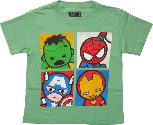 Avengers Four Pop Cuties Squares Juvenile T-Shirt