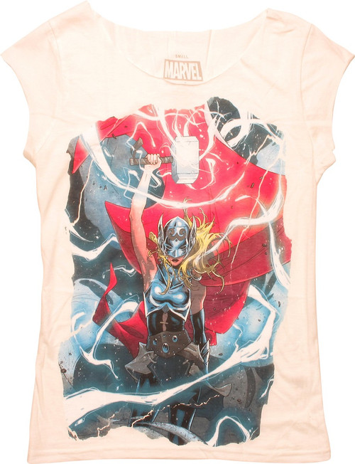 Thor Jane Foster Electricity Juniors T-Shirt