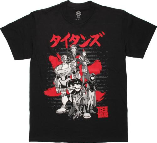 Teen Titans Tokyo Group Pose T-Shirt