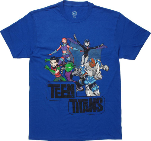 Teen Titans Action Group Vintage T-Shirt